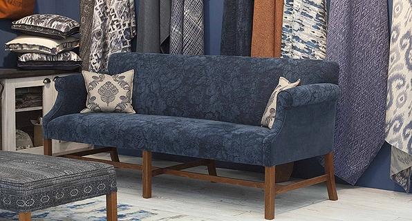 Byron Midnight Blue Sofa by Artistic Design