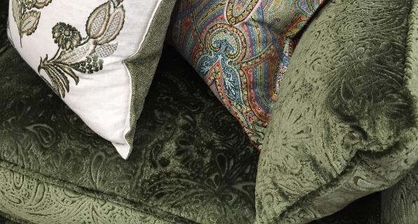 Cushions on Skirmish Sofa