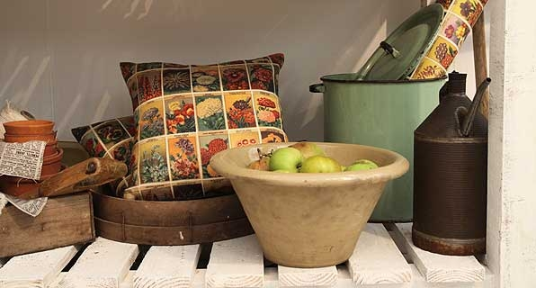 Seed Packetes Cushion at Decorex
