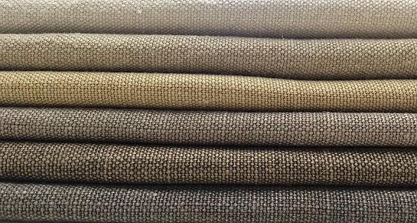 Stack of brown shades