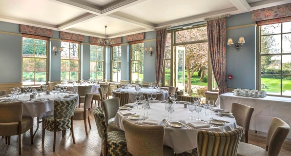 Oleander Swedish Grey Curtains (Washingborough Hotel)