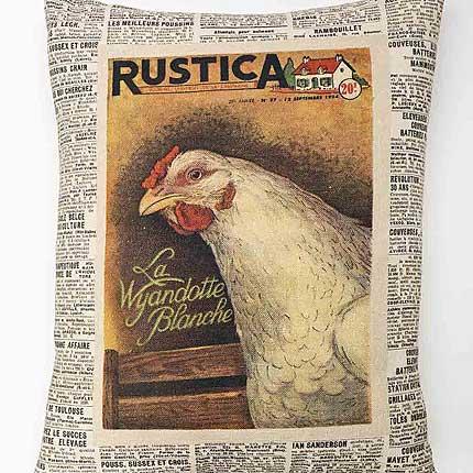 Chicken Vintage Cushion