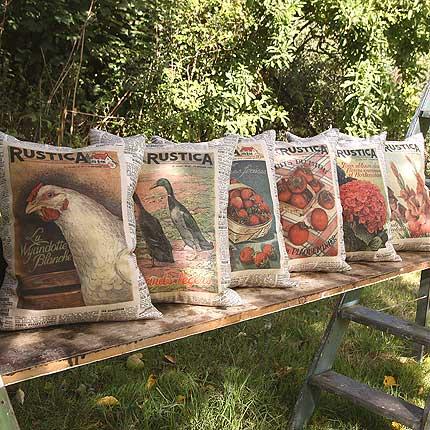 Set of 6 Rustica Vintage Cushions