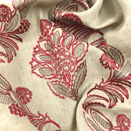 Pasha Embroidery<br>Rajah Red
