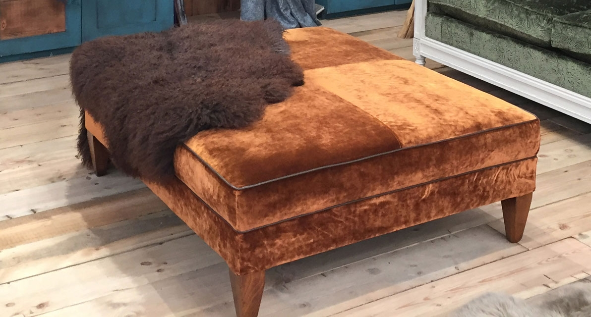 Rostov Copper footstool